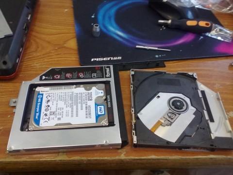 笔记本装上双硬盘
