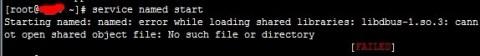 缺少libdbus-1.so.3导致DA面板无法启动named服务