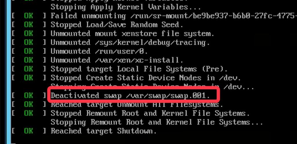 Xenserver 瘦身之自带的/var/swap/swap.001